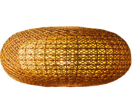 woven rattan with natural patterns and light background