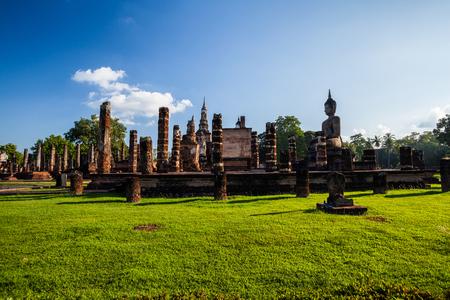 Wat Mahathat Sukhothai Historical Park ,Sukhothai ,Thailand Stock Photo