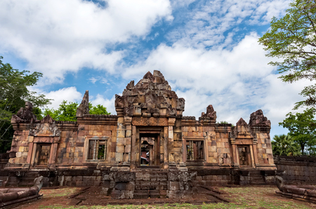 Prasat Muang Tam historical park is Castle Rock old Architecture about a thousand years ago at Buriram Province,Thailand ( Generality in Thailand,and kind of art decorated in Buddhist church,temple pavilion,temple hall.They are public) Stock Photo