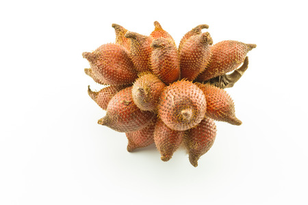 Salak fruit, Salacca zalacca bunch isolated on the white background Stock Photo