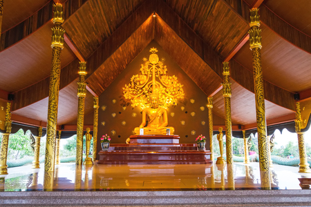 Sirindhorn Wararam Temple (Phu Prao Temple), Ubon Ratchathani, Thailand. ( Generality in Thailand ,and kind of art decorated in Buddhist church, temple pavilion ,temple hall . They are public)