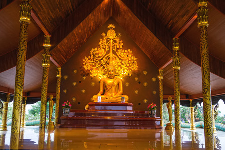 generality: Sirindhorn Wararam Temple (Phu Prao Temple), Ubon Ratchathani, Thailand. ( Generality in Thailand ,and kind of art decorated in Buddhist church, temple pavilion ,temple hall . They are public)