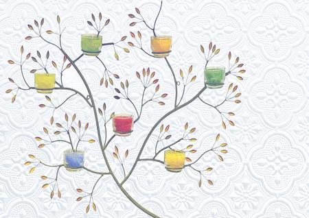 pattern on Background corrugated glass