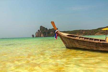 Tropical beach in Andaman Sea at Krabi, Thailand