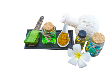Spa herbal on wooden