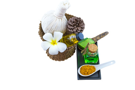 Spa herbal on wooden Banco de Imagens - 120713966