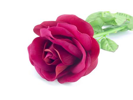 counterfeit: counterfeit red rose on isolate white bacground Stock Photo