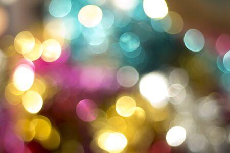multi: blurred defocused multi color lights bokeh abstract background