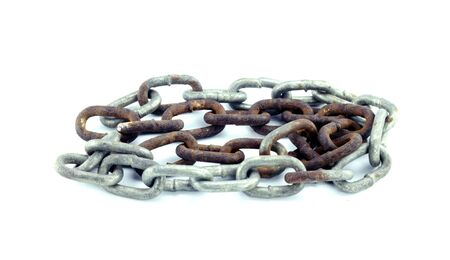 rusty chain: a rusty old chain.