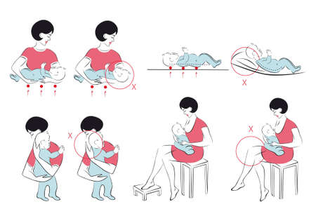 newborn care Stock Vector - 12811206