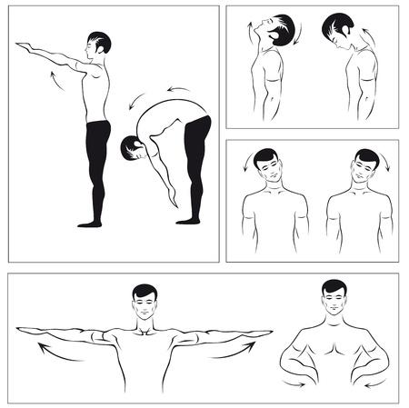 sedentario: un conjunto de ejercicios f�sicos para relajar la columna vertebral