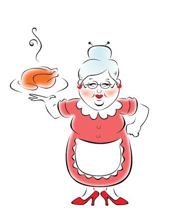 grandmas: Mi abuela cocinado la cena