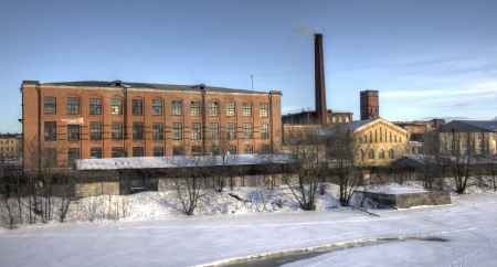 Industrial area  The urban landscape  Winter