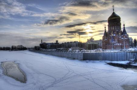 Industrial area  The urban landscape  Winter  photo