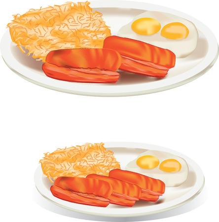 agreeable: American breakfast hash brown Illustration