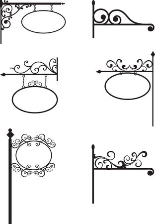 wrought iron: Segni d'epoca in ferro battuto set