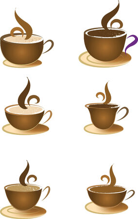 edema: coffee cup shape element icon vector