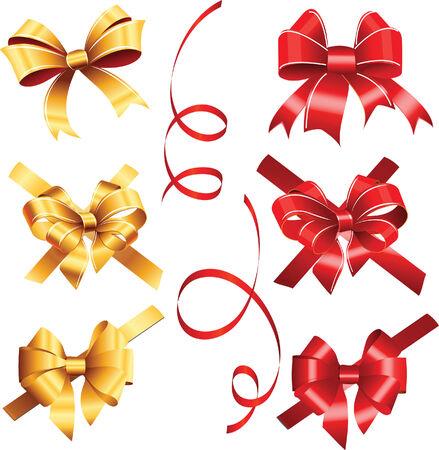 ribbon red: ribbon red and gold christmas