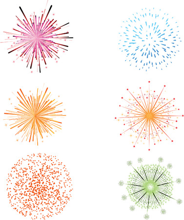 peat: Fireworks colorful festival vector
