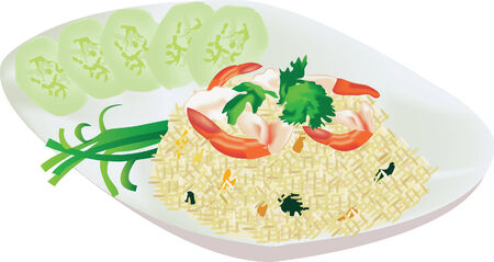 fried rice: fried rice with shrimp
