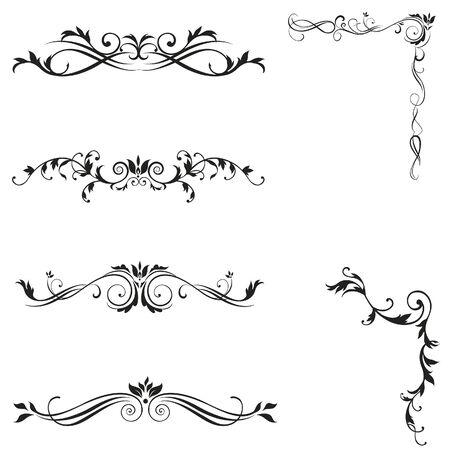 romanesque: design elements vintage vector