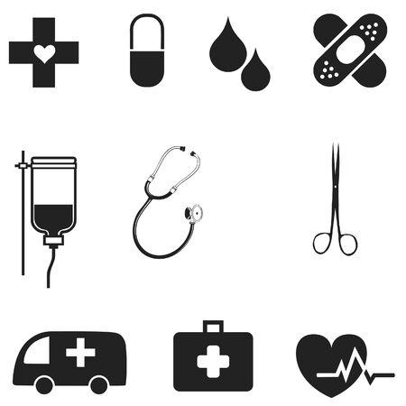 financial emergency: hospital symbol original medical collection