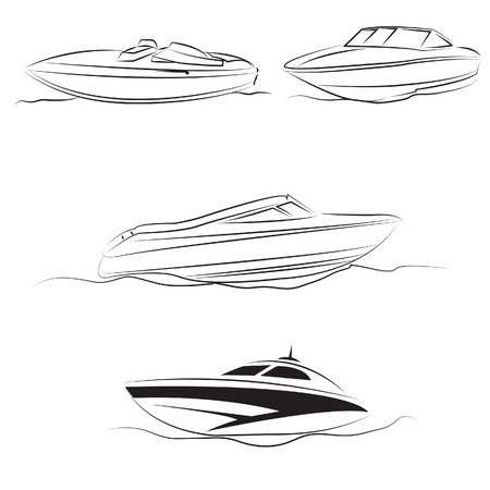 speed boat tour vector