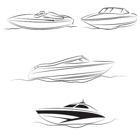 speed boat: velocidad de paseo en barco vector