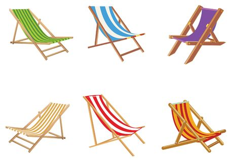 outdoor chair: Beach chair vector