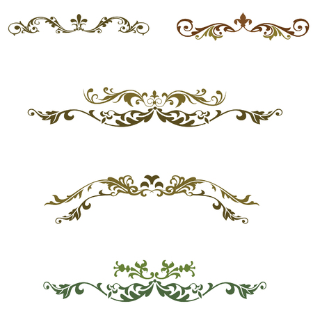 elements floral decoration vector