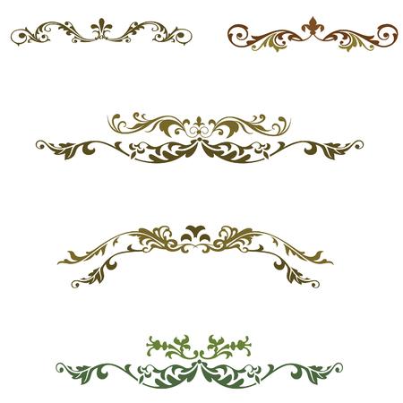 blown: elements floral decoration vector