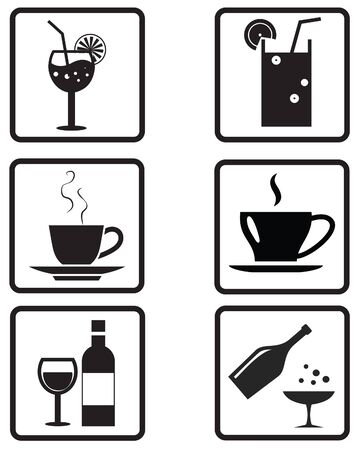 Food and Beverage icons Stock Vector - 39372964