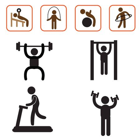 calisthenics: exercise icon health and fitness vector