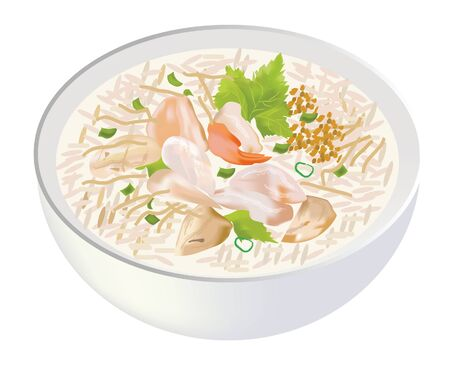 Traditional Rice Breakfast Porridge