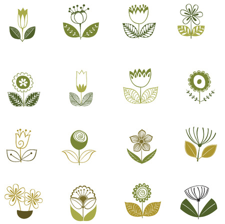 flower clip art: Flower icon isolated vector