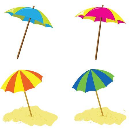 umbrela: umbrela beach vector