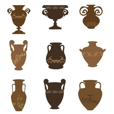 vases: pottery vases vector