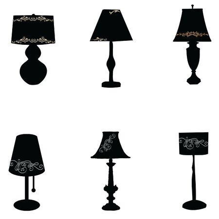 lamp light: Table Lamp Light black vector