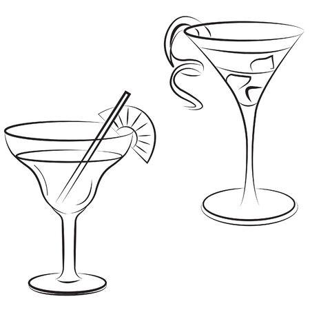 grass vector: drink cocktail grass vector Illustration