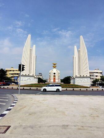 democracy Monument: The Democracy Monument in Bangkok Stock Photo