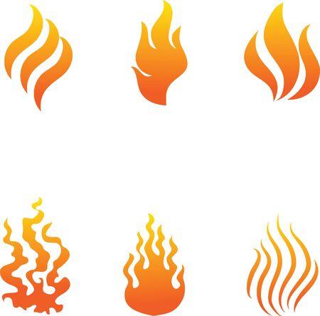 ornamentations: fire vector icon