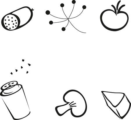 food: icon food kitchen vector Illustration