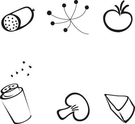 icon food kitchen vector Ilustração