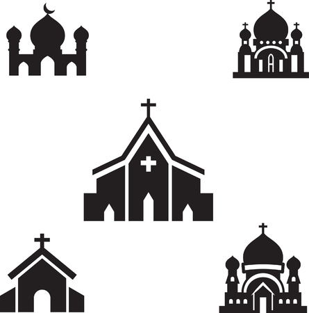 geïsoleerd kerk silhouet vector