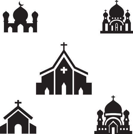 vecteur silhouette de l'église isolé