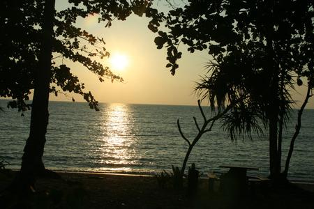 tonight: beach sunset koh libong in trang thailand
