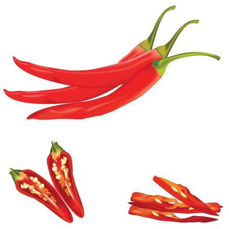 Hete rode chili of chili peper