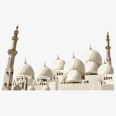 Islamic mosques Иллюстрация