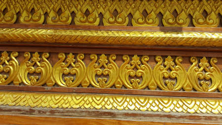 Wood craft Thai classic pattern Stock fotó