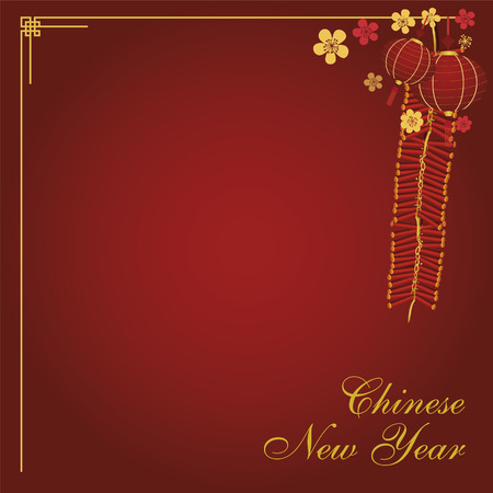 Chinese new year card design vector illustration